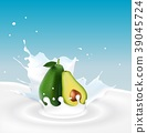 Milk splash with avocado 39045724