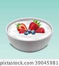 Yogurt bowl with mixed fruits 39045981