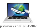 Laptop and globe concept with address bar isolated 39045982