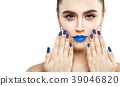 Female Face with Makeup Isolated  39046820
