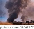controlled burn, chitarase manmade pond, smoke 39047977