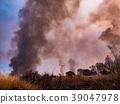 controlled burn, chitarase manmade pond, smoke 39047978