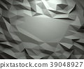Abstract dark 3d rendered geometric low poly 39048927