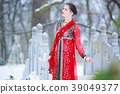 winter, park, dress 39049377