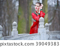 winter, park, dress 39049383