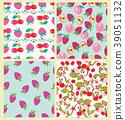 cherry, pattern, strawberry 39051132
