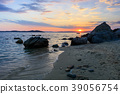 sunset on the beach 39056754