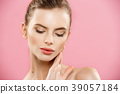 Beauty skin Concept - Beautiful Young Caucasian 39057184
