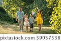 family, walking, park 39057538