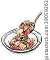 炖鸡 炖 开水焯过的食物 39059263