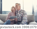 Amorous pensioners spending time with delight 39061070
