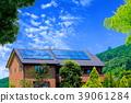 生态屋 绿色 太阳能板 39061284