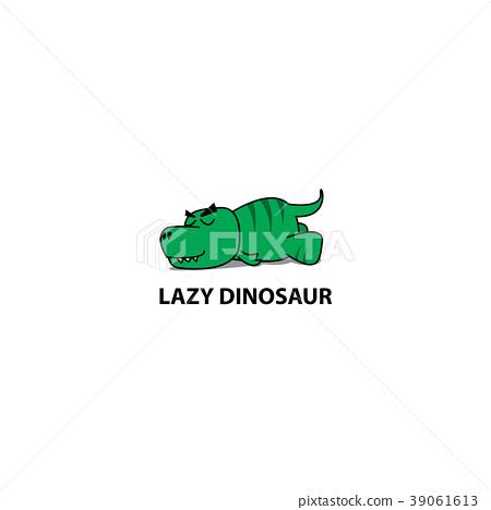 Lazy dinosaur, Funny t-rex sleeping icon 39061613