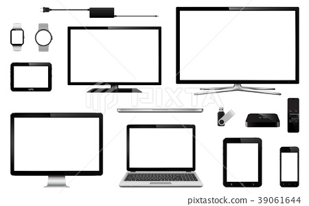 Modern technology devices with blank screen 39061644