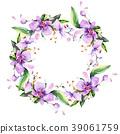 Bouquet flower wreath in a watercolor style. 39061759