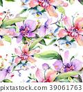 Bouquet flower pattern in a watercolor style. 39061763