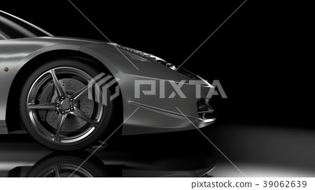 Side/front view sport car 39062639