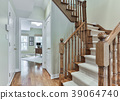 Wooden staircase interior 39064740