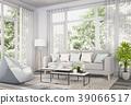 Living room interior in modern style, 3d render 39066517