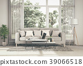 Living room interior in modern style, 3d render 39066518
