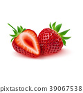 Realistic strawberry isolated on white background 39067538