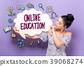 在线 教育 女人 39068274