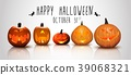 Halloween background Pumpkins 39068321