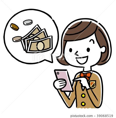 女孩 女学生 女生 39068519