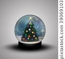 glass dome winter with realistic Christmas snow gl 39069103