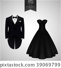 Tuxedo and bridal gown 39069799