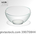 Transparent glass bowl isolated. Realistic vector 39070844
