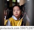 The little Asian girl feeling sad  39071287