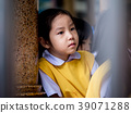 The little Asian girl feeling sad  39071288