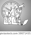 Multitasking manager vector illustration doodle  39071435