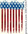 American poster grunge flag 39072047