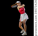 Woman tennis player (without ball version) 39073426