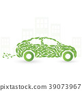 Green eco car concept made up of green leaves 39073967