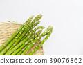 아스파라거스 소쿠리 흰색 배경 39076862