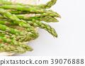 아스파라거스 소쿠리 흰색 배경 39076888