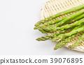 아스파라거스 소쿠리 흰색 배경 39076895