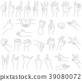 hand, gesturing, sign 39080072