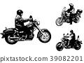 vintage motorcycles sketch illustration 39082201
