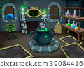 The witch room. Vector cartoon illustration 39084416