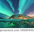 Aurora. Nothern lights in Lofoten islands, Norway 39084940