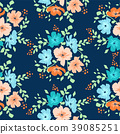 vector seamless floral pattern with daisy flowers 39085251