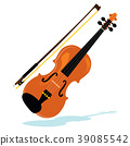 Violin With Bow 39085542