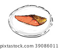 grilled fish, salted salmon, food 39086011