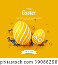 Easter holiday greeting card. 39086298