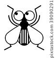 벌레, 곤충, 흑백 39090291