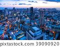 Prefecture จังหวัดโอซาก้าトทิวทัศน์ยามค่ำคืนรอบอุเมดะ 39090920